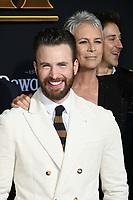 """14 November 2019 - Westwood, California - Chris Evans, Jamie Lee Curtis. """"Knives Out"""" Los Angeles Premiere held at Regency Village Theater. Photo Credit: Birdie Thompson/AdMedia"""