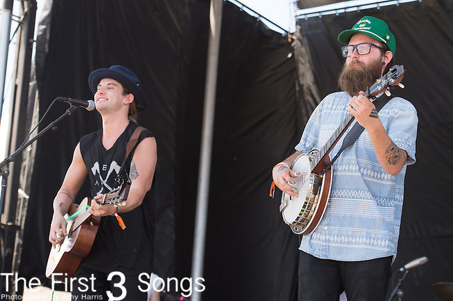 Judah Akersand Nate Zuercher of Judah & The Lion perform onstage during The Tortuga Music Festival in Fort Lauderdale, Florida.