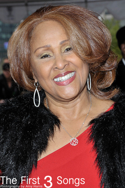 Darlene Love attends the Rock & Roll Hall of Fame Induction Ceremony in Cleveland, Ohio on April 14, 2012.