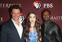LOS ANGELES, CA - JUNE 8: Dominic West, Lily Collins, David Oyelowo, at Les Miserables Photo Call at the Linwood Dunn Theater in Los Angeles, California on June 8, 2019.  <br /> CAP/MPI/SAD<br /> ©SAD/MPI/Capital Pictures