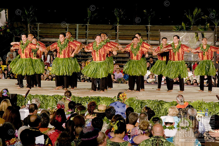 Hula kahiko performance at the Merrie Monarch Festival 2008