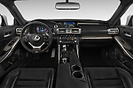 Stock photo of straight dashboard view of a 2015 Lexus IS 350 4 Door Sedan