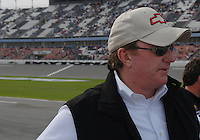 Feb 11, 2007; Daytona, FL, USA; Nascar Nextel Cup car owner Richard Childress during qualifying for the Daytona 500 at Daytona International Speedway. Mandatory Credit: Mark J. Rebilas