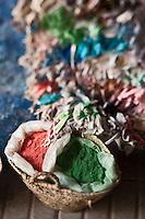 Afrique/Afrique du Nord/Maroc/Essaouira: Pigments des tisserands dans la médina