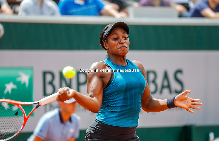 Paris, France, 27 May, 2018, Tennis, French Open, Roland Garros, Sloane Stephens (USA)<br /> Photo: Henk Koster/tennisimages.com