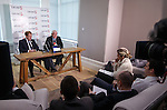 Murdo MacLeod and Walter Smith facing the press at the launch of Level5 PR in Glasgow