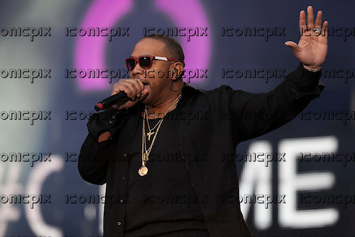 TIMBALAND -  performing live at the  Sound of Change Live concert held at the Twickenham Stadium Surrey UK - 01 Jun 2013.  Photo credit: John Rahim/Music Pics Ltd/IconicPix