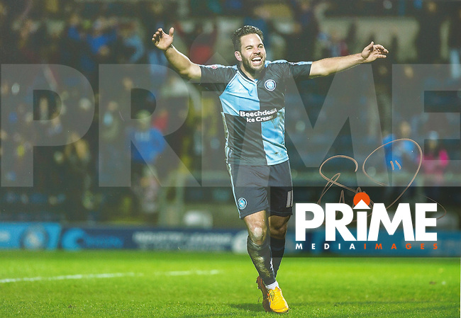 Sam Wood of Wycombe Wanderers Signed Photos at Adams Park, High Wycombe, England on 29 April 2016. Photo by Andy Rowland.