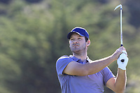Former NFL Dallas Cowboys quarterback and now CBS commentator Tony Romo tees off the 5th tee at Spyglass Hill during Thursday's Round 1 of the 2018 AT&amp;T Pebble Beach Pro-Am, held over 3 courses Pebble Beach, Spyglass Hill and Monterey, California, USA. 8th February 2018.<br /> Picture: Eoin Clarke | Golffile<br /> <br /> <br /> All photos usage must carry mandatory copyright credit (&copy; Golffile | Eoin Clarke)