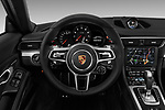 Car pictures of steering wheel view of a 2018 Porsche 911 Carrera 2 Door Coupe