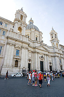 La chiesa di Sant'Agnese in Agone, in Piazza Navona, a Roma.<br /> The church of Sant'Agnese in Agone, in Piazza Navona, Rome.<br /> UPDATE IMAGES PRESS/Riccardo De Luca