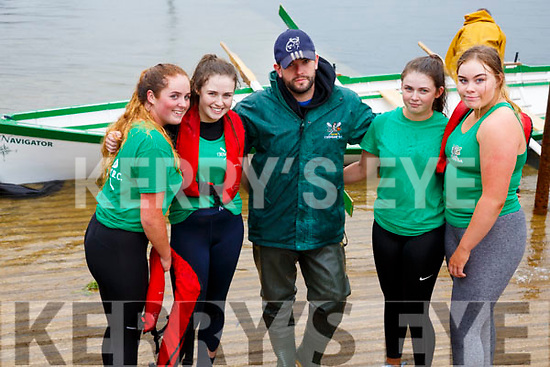 The Cromane Minor ladies crew who finished in third place at the OTW regatta on Sunday were l-r; Ava Griffin, Sarah Casey, Stephen O'Sullivan(cox), Julia Casey & Chloe Teahan.  Valentia claimed first position with Sive in Second place.