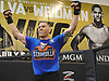 Matt Frevola raises his arms during a training session at Longo-Weidman MMA in Garden City on Tuesday, Jan. 9, 2018. The 27-year-old mixed martial arts fighter from Huntington will make his UFC debut this Sunday (Jan. 14) in St. Louis against opponent Marco Polo Reyes .
