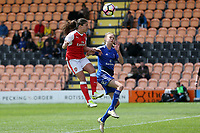 Fara Williams of Arsenal Ladies and Andrine Hegerberg of Birmingham City Ladies during Arsenal Ladies vs Birmingham City Ladies, FA Women's Super League FA WSL1 Football at the Hive Stadium on 20th May 2017