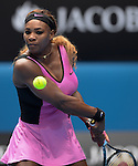 Serena Williams (USA) loses to Ana Ivanovic (SRB) 4-6, 6-3,6-3 at the Australian Open in Melbourne, Australia on January 19, 2014