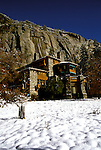 CA: Yosemite National Park, Ahwahnee Hotel in winter               .Photo Copyright: Lee Foster, lee@fostertravel.com, www.fostertravel.com, (510) 549-2202.cayose227
