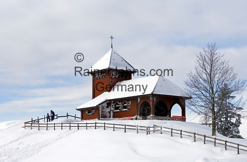 CH, Switzerland, Canton Schwyz, Kuessnacht: church at Seebodenalp, popular place of excursions and hiking