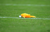 Nov. 28, 2009; Tempe, AZ, USA; Detailed view of a yellow penalty flag on the field during game between the Arizona State Sun Devils against the Arizona Wildcats at Sun Devil Stadium. Arizona defeated Arizona State 20-17. Mandatory Credit: Mark J. Rebilas-