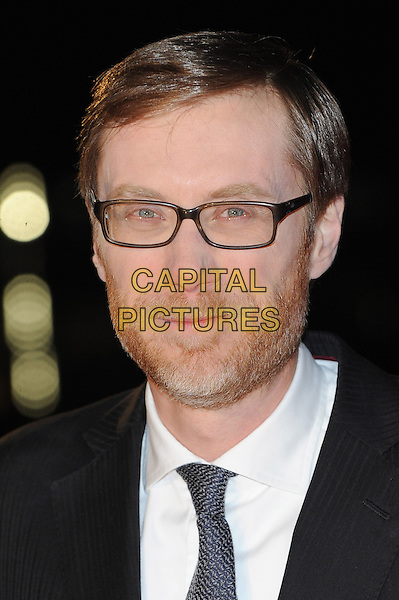 Stephen Merchant .attends the UK Premiere of 'I Give It A Year', Vue West End cinema, London, England, UK, 24th January 2013..portrait headshot glasses white shirt tie grey gray beard facial hair .CAP/BEL.©Tom Belcher/Capital Pictures.