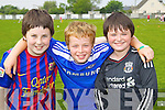 Pictured taking part in Blennerville N.S. Sports Day on Friday, from left: Adam Fleming, Patrick Dowling and Cillian Ryan..