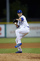 Burlington Royals relief pitcher Donavin Buck (59) in action against the Pulaski Yankees at Burlington Athletic Stadium on August 25, 2019 in Burlington, North Carolina. The Yankees defeated the Royals 3-0. (Brian Westerholt/Four Seam Images)