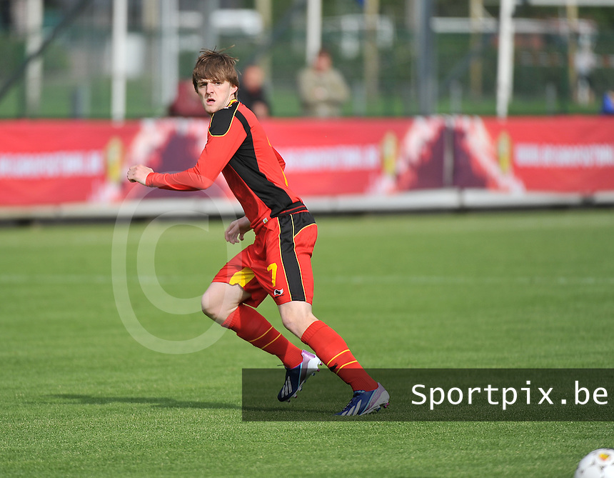 Scotland U19 - Belgium U19 : Thomas Foket.foto DAVID CATRY / Nikonpro.be