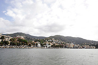 Una veduta di Rapallo.<br /> Explanade of the town of Rapallo with hills behind.<br /> UPDATE IMAGES PRESS/Riccardo De Luca