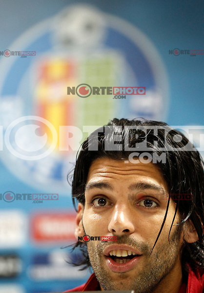Getafe's Angel Lafita in press conference after La Liga match.November 18,2012. (ALTERPHOTOS/Acero) NortePhoto