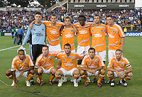 13 September 2008: Dynamo Starting XI pose for a group photo before the game against the Earthquakes at Buck Shaw Stadium in Santa Clara, California.   San Jose Earthquakes tied Houston Dynamo, 1-1.