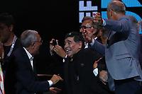 Diego Armando Maradona e gli ex compagni <br /> Napoli 05-07-2017  Napoli Piazza del Plebiscito<br /> Evento per il conferimento della cittadinanza onoraria a Diego Armando Maradona da parte del Comune di Napoli.<br /> Honorary Citizenship to Diego Armando Maradona<br /> By the City of Naples.<br /> Foto Cesare Purini / Insidefoto
