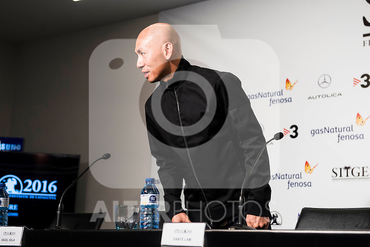 """Chinese director Dante Lam during the press conference of the presentation of the film """"Operation Mekong"""" at Festival de Cine Fantastico de Sitges in Barcelona. October 10, Spain. 2016. (ALTERPHOTOS/BorjaB.Hojas)"""