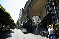 Pictured: Wyndham Arcade and The Hayes in Cardiff Thursday 25 May 2017<br />Re: Preparations for the UEFA Champions League final, between Real Madrid and Juventus in Cardiff, Wales, UK.