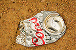 Crushed Coors Light Can.