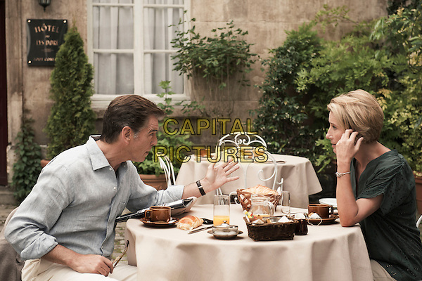 Pierce Brosnan, Emma Thompson<br /> in Love Punch (2013) <br /> *Filmstill - Editorial Use Only*<br /> CAP/NFS<br /> Image supplied by Capital Pictures