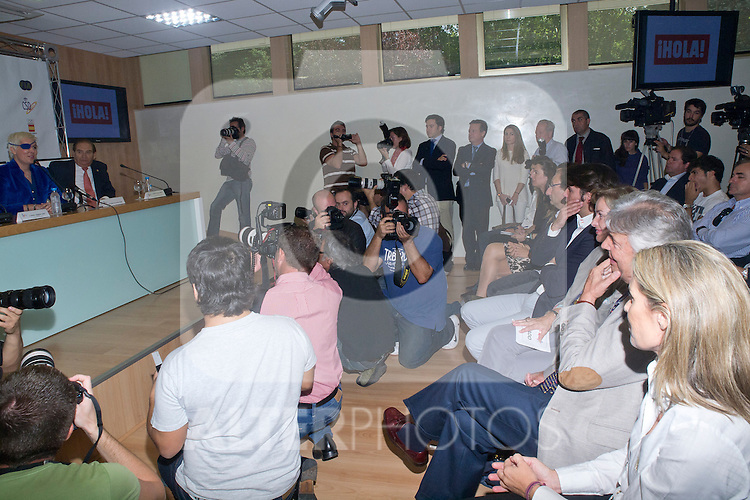11.10.2012. The racecar driver, Maria de Villota Comba,  gives a press conference after acccidente in CSD (Sports Council) in Madrid, Spain, accompanied by his family, friends and colleagues. In the image Maria de Villota (Alterphotos/Marta Gonzalez)
