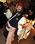 Impersonator Danny Lopez as Captain Jack Sparrow at a VIP preview of Real Pirates: The Untold Story of the Whydah from Slave Ship to Pirate Ship at the Houston Museum of Natural Science Wednesday Oct. 06, 2010. (Dave Rossman/For the Chronicle)