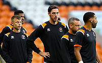 Blackpool players go through their warm ups<br /> <br /> Photographer Alex Dodd/CameraSport<br /> <br /> EFL Leasing.com Trophy - Northern Section - Group G - Blackpool v Morecambe - Tuesday 3rd September 2019 - Bloomfield Road - Blackpool<br />  <br /> World Copyright © 2018 CameraSport. All rights reserved. 43 Linden Ave. Countesthorpe. Leicester. England. LE8 5PG - Tel: +44 (0) 116 277 4147 - admin@camerasport.com - www.camerasport.com