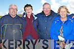 COURSING: Enjoying the final day of the Ballyheigue Coursing in Ballyheigue on Sunday l-r: John Michael O'Sullivan, Kathy Cantillon, maurice McElligott and Teresa Reidy.
