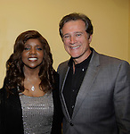 Gloria Gaynor sang I Will Survive poses with Frank Dicopoulos (Guiding Light) at Loukoumi & Friends Concert held on June 23, 2014 at the Scholastic Theatre, New York City, New York. Proceeds will benefit The Loukoumi Make a Difference Foundation. Foundation first project will be the Make A Difference with Loukoumi television special airing on FOX stations Oct 19-20. (Photo by Sue Coflin/Max Photos)