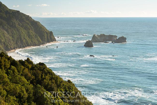 Coastal views at Knight's Point near Haast, West Coast, South Westland, UNESCO World Heritage Area, New Zealand, NZ