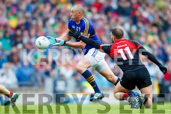 Kieran Donaghy Kerry in action against Aidan O'Shea Mayo in the All Ireland Semi Final in Croke Park on Sunday.