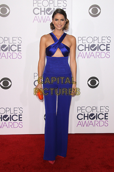 LOS ANGELES, CA - JANUARY 6: Shelley Hennig at The People's Choice Awards 2016 at the Microsoft Theater on January 6, 2016 in Los Angeles, California. <br /> CAP/MPI21<br /> &copy;MPI21/Capital Pictures