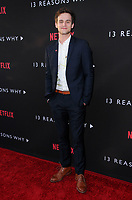 "30 March 2017 - Los Angeles, California - Brandon Flynn.  Premiere Of Netflix's ""13 Reasons Why"" held at Paramount Studios in Los Angeles. Photo Credit: Birdie Thompson/AdMedia"