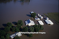 63816-01206 Farm north of Valmeyer Flood of '93, 8/6/93    IL