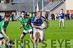 In Action KOR's David McLoughlin get away from  Maine's Cathal Moriarty  at the Garveys Senior Football Championship Kerins O'Rahilly V Milltown/Castlemaine at Strand Rd on Sunday