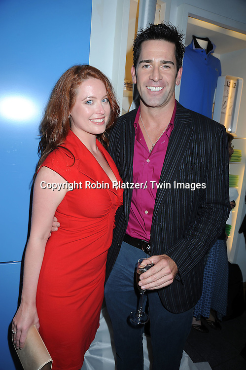"""Melissa Archer and Matt Walton of """"One Life to Live""""  posing at the USA Network and Vanity Fair celebration for the Second Season of  """"Royal Pains"""" at the Lacoste Fifth Avenue Store on June 1, 2010 in New York City."""
