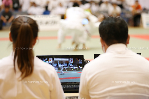 Instant replay,<br /> September 13, 2014 - Judo : <br /> All Japan Juior Judo Championships <br /> at Saitama Kenritsu Budokan, Saitama, Japan. <br /> (Photo by Shingo Ito/AFLO SPORT) [1195]