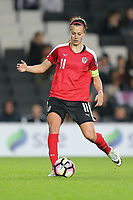 Viktoria Schnaderbeck (FC Bayern Munich) of Austria Women during the Women's Friendly match between England Women and Austria Women at stadium:mk, Milton Keynes, England on 10 April 2017. Photo by PRiME Media Images / David Horn.