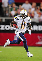 Aug. 22, 2009; Glendale, AZ, USA; San Diego Chargers wide receiver (11) Legedu Naanee against the Arizona Cardinals during a preseason game at University of Phoenix Stadium. Mandatory Credit: Mark J. Rebilas-