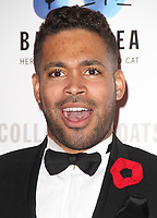 Danyl Johnson at the Collars &amp; Coats Gala Ball 2018 at Battersea Evolution, Battersea Park, London on Thursday 1st November 2018<br /> CAP/JIL<br /> &copy;JIL/Capital Pictures